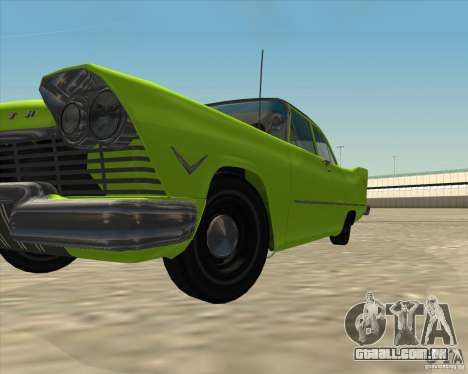 Plymouth Savoy 1957 para GTA San Andreas vista inferior