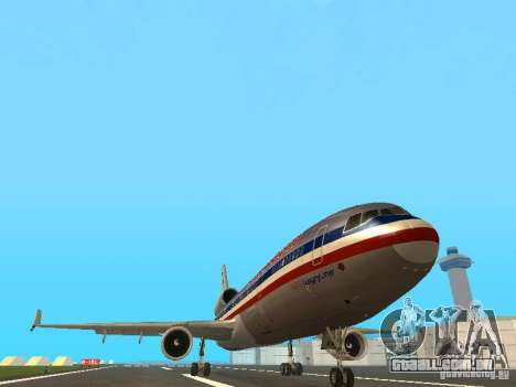 McDonell Douglas MD11 American Airlines para GTA San Andreas vista interior