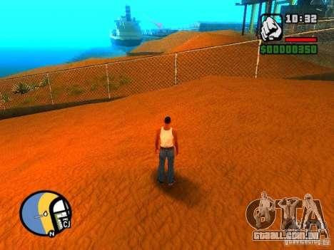 Texturas de praia de leste para GTA San Andreas quinto tela