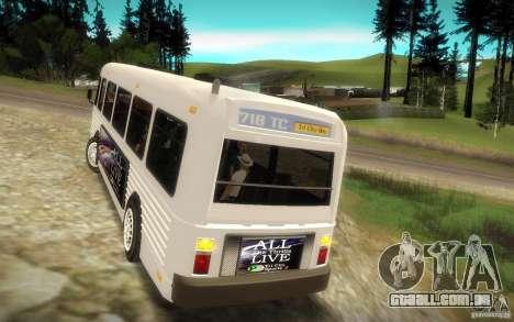 NFS Undercover Bus para GTA San Andreas vista traseira