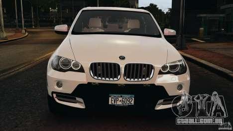 BMW X5 xDrive48i Security Plus para GTA 4 vista inferior