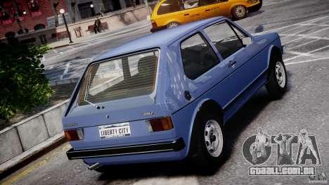 Volkswagen Golf Mk1 para GTA 4 interior