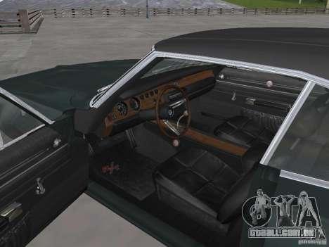 Dodge Charger 1969 para GTA San Andreas vista direita