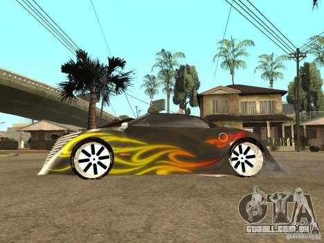 Thunderbold SlapJack para GTA San Andreas traseira esquerda vista