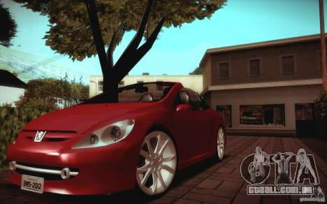 Peugeot 307CC BMS Edition para portáteis para GTA San Andreas esquerda vista