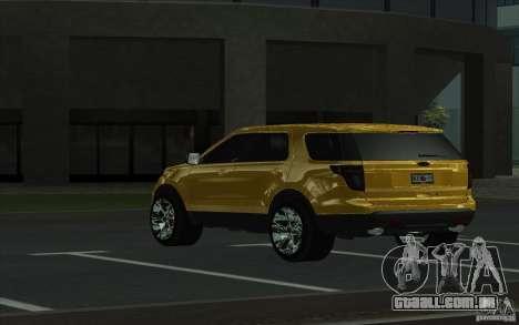 Ford Explorer Limited 2013 para GTA San Andreas traseira esquerda vista