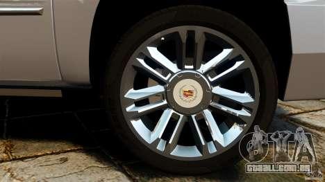 Cadillac Escalade ESV 2012 para GTA 4 vista lateral