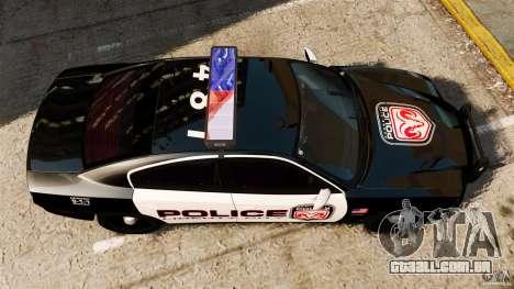 Dodge Charger RT Max Police 2011 [ELS] para GTA 4 vista direita