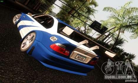 BMW M3 GTR v2.0 para GTA San Andreas vista traseira