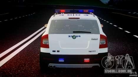 Skoda Octavia Scout NYPD [ELS] para GTA 4 rodas