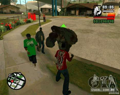 Tanque do Left 4 Dead. para GTA San Andreas segunda tela