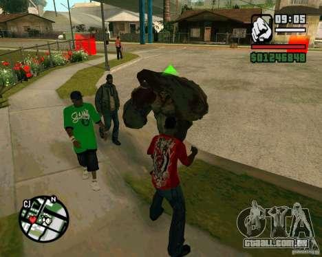 Tanque do Left 4 Dead. para GTA San Andreas segunda tela
