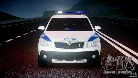 Skoda Octavia Scout NYPD [ELS] para GTA 4 vista inferior