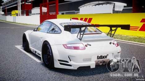 Porsche GT3 RSR 2008 SpeedHunters para GTA 4 traseira esquerda vista