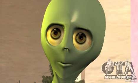Alien para GTA San Andreas por diante tela