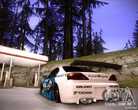 Nissan Silvia S15 Blue Tiger para GTA San Andreas esquerda vista