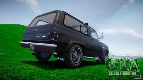 Chevrolet Blazer K5 Stock para GTA 4 motor