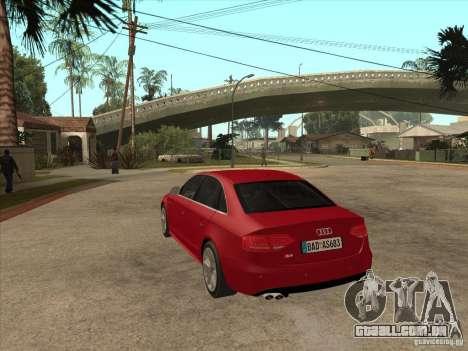 Audi S4 2010 para GTA San Andreas traseira esquerda vista
