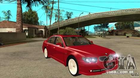 BMW Alpina B7 para GTA San Andreas vista traseira
