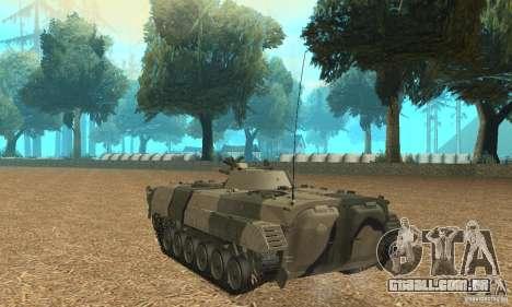 BMP-1 Camo para GTA San Andreas traseira esquerda vista