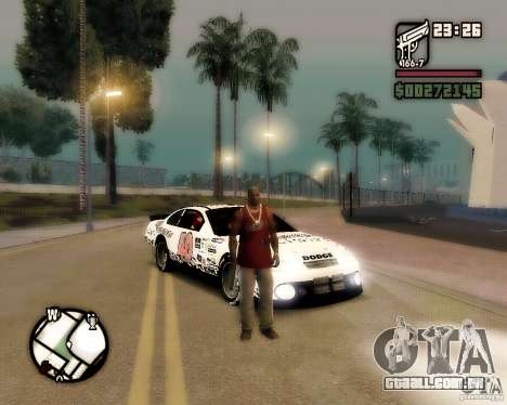 Dodge Nascar Beers Light 40 para GTA San Andreas vista direita