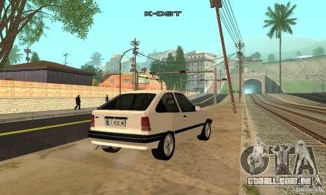 Opel Kadett E para GTA San Andreas traseira esquerda vista