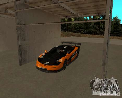 McLaren F1 para GTA San Andreas vista direita