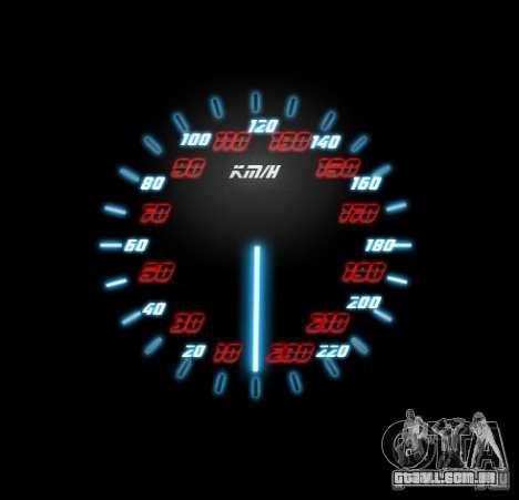 Neon Style Speedometr para GTA San Andreas terceira tela
