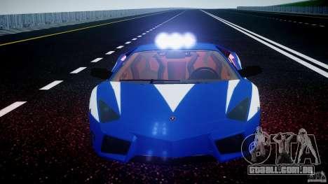 Lamborghini Reventon Polizia Italiana para GTA 4 rodas