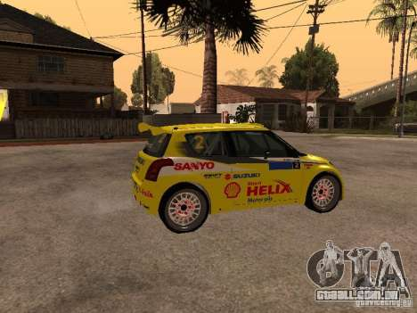 Suzuki Swift Rally para GTA San Andreas esquerda vista