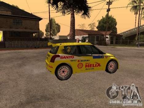 Suzuki Swift Rally para GTA San Andreas esquerda vista