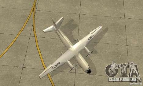 Antonov an-24 para GTA San Andreas vista interior