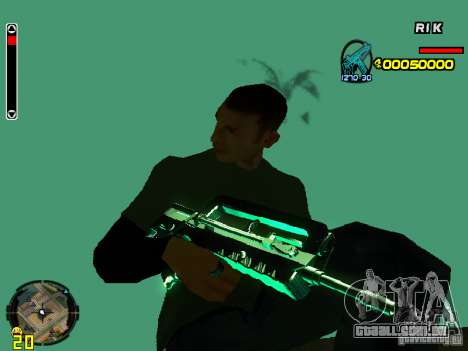 Blue weapons pack para GTA San Andreas por diante tela
