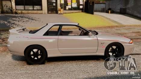 Nissan Skyline GT-R (BNR32) para GTA 4 esquerda vista