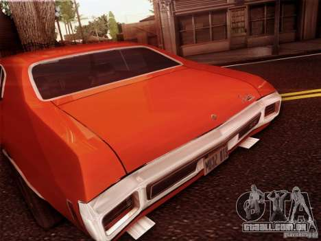 Chevy Chevelle SS 1970 para GTA San Andreas vista traseira