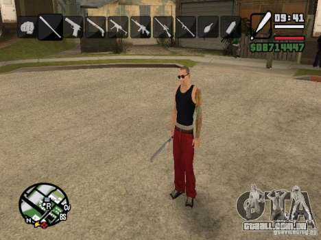 Ícones quando mudar de armas para GTA San Andreas terceira tela