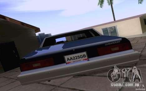 Chevrolet Caprice Clasico para GTA San Andreas vista direita