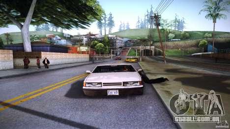Os peões se agarram à auto para GTA San Andreas quinto tela