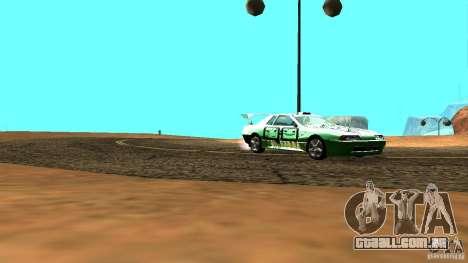 Elegy v0.2 para GTA San Andreas traseira esquerda vista
