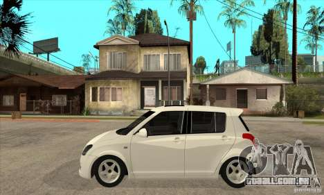 Suzuki Swift 4x4 CebeL Modifiye para GTA San Andreas esquerda vista