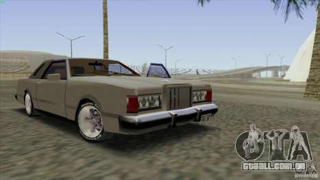 Virgo Continental para GTA San Andreas interior