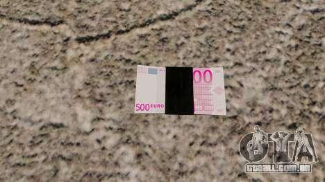 Notas de euro para GTA 4