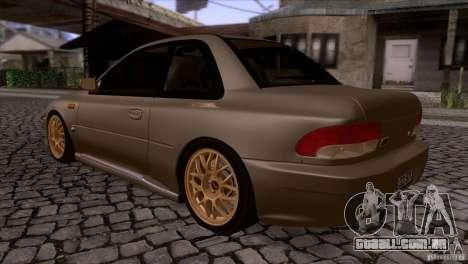 Subaru Impreza 22 para GTA San Andreas traseira esquerda vista