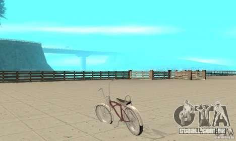 Lowrider Bicycle para GTA San Andreas traseira esquerda vista