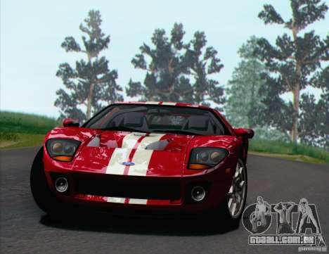 Ford GT 2005 para GTA San Andreas vista interior