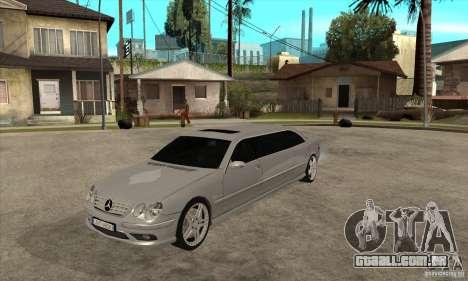 Mercedes-Benz CL65 Limusine para GTA San Andreas