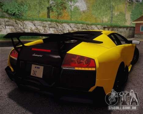 Lamborghini Murcielago LP 670/4 SV Fixed Version para GTA San Andreas esquerda vista