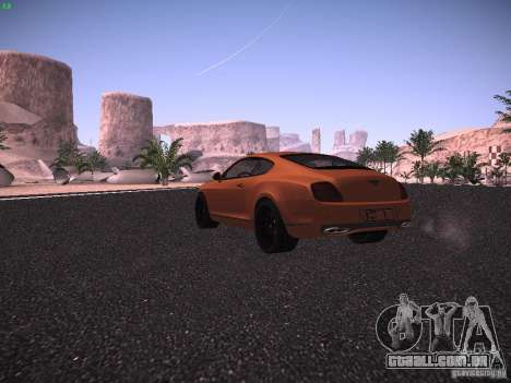 Bentley Continetal SS Dubai Gold Edition para GTA San Andreas vista direita