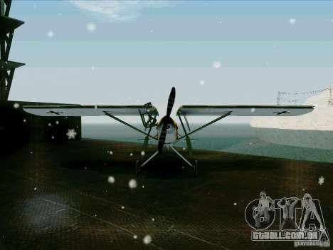 Fi-156 para GTA San Andreas vista traseira