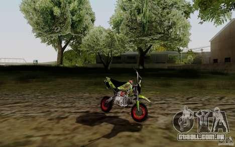 Kawasaki 50cc Pocket Factory Bike para GTA San Andreas esquerda vista
